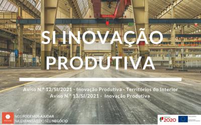 SI Inovação Produtiva: taxa de incentivo até 75%